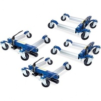Hydraulic Wheel Dolly 4pc Set and stand