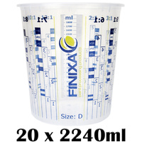 20 x 2240ml Mixing Cups (Size D)