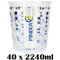 40 x 2240ml Mixing Cups (Size D)