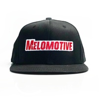 Melomotive Hat - Snapback Black/Red logo