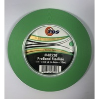 "ProBand Green 1/4"" (6.4mm) Fineline tape 55m"