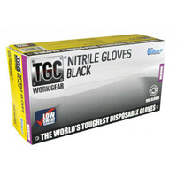 TGC Black Nitrile Gloves Medium