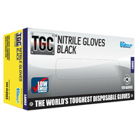 TGC Black Nitrile Gloves Large