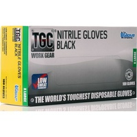 TGC Black Nitrile Gloves X Large