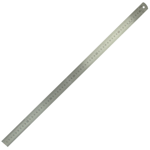 600mm/24in Matt Stainless Steel Ruler - Metric/Imperial