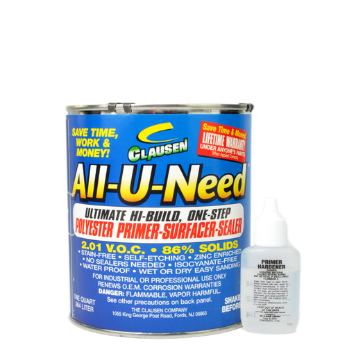 All-U-Need Polyester Primer 950ml - Light Grey